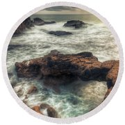 Stormy Seascape Round Beach Towel