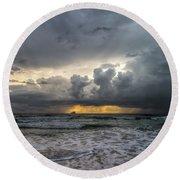 Stormy Weather Round Beach Towel