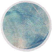 Stormy Round Beach Towel by Writermore Arts