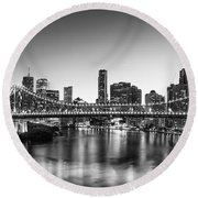 Story Bridge Brisbane Round Beach Towel