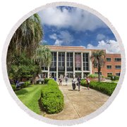 Stozier Library At Florida State University Round Beach Towel
