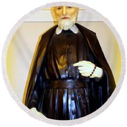 St.philip Neri Round Beach Towel
