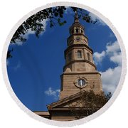 St.philips Church Charleston Sc Round Beach Towel