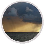 Strait Of Messina IIi Round Beach Towel