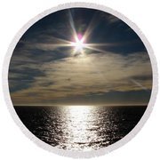 straits of magellan II Round Beach Towel