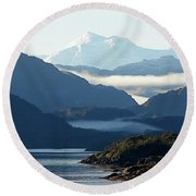 Straits Of Magellan Vii Round Beach Towel