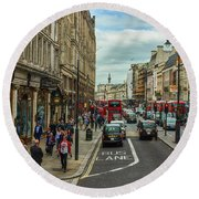 Strand Street, London. Round Beach Towel