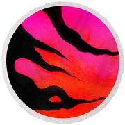 Strange Abstract Mood Round Beach Towel