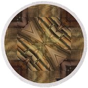Strange Abstract  Round Beach Towel