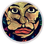 Strange Man Color Round Beach Towel