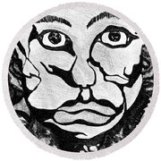 Strange Man Round Beach Towel