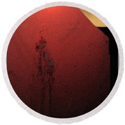 Strange Sunrise Out There Round Beach Towel