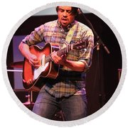 Strange Vine Guitarist Toby Cordova Round Beach Towel