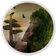 Stranger In The Forest Round Beach Towel