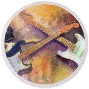 Strat Brothers Round Beach Towel