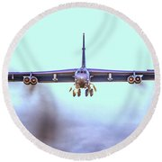 Stratofortress Leaving Color Round Beach Towel
