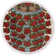 Strawberries, 1889 Round Beach Towel
