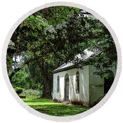 Strawberry Chapel Of Ease Round Beach Towel