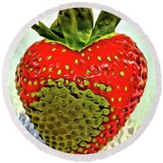 Strawberry Dreams Round Beach Towel