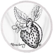 Strawberry Dreams Round Beach Towel