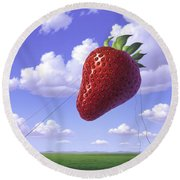 Strawberry Field Round Beach Towel
