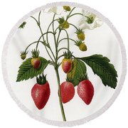 Strawberry Round Beach Towel