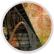 Strawberry Mansion Bridge Philadelphia Pa Round Beach Towel