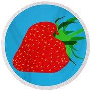 Strawberry Pop Round Beach Towel