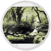 Stream In An Ancient Wood Round Beach Towel