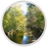 Stream Reflections Round Beach Towel