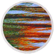 Streaming Rays Of Love Round Beach Towel