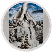 Streams Of Thought Round Beach Towel