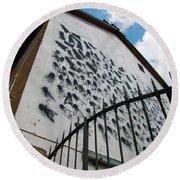 Street Art At The Campidoglio Neighborhood - 5 Round Beach Towel