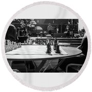 Street Chess 2 Round Beach Towel