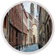 Street In Toulouse Round Beach Towel