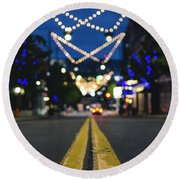 Street Lights Round Beach Towel
