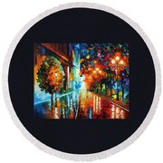 Street Of Hope Round Beach Towel