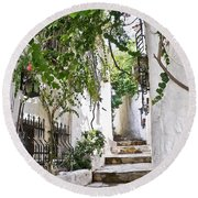 Street Of Marmaris Round Beach Towel
