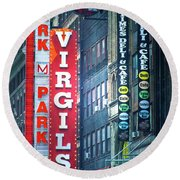 Street Signs Of New York Round Beach Towel
