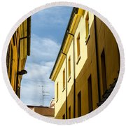 Streets Of Cesena 7 Round Beach Towel