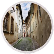 Streets Of France Round Beach Towel