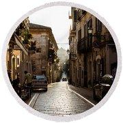 Streets Of Italy - Citta Sant Angelo 2 Round Beach Towel