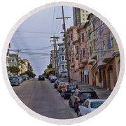 Streets Of San Francisco -2 Round Beach Towel