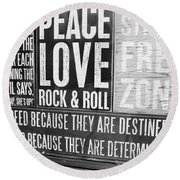 Stress Free Zone Too Round Beach Towel
