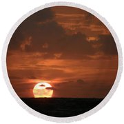 Stretch And Rise Round Beach Towel