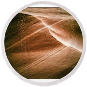 Striations. Round Beach Towel