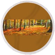 Strid Wood Round Beach Towel