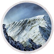 Striding Edge On Helvellin Round Beach Towel