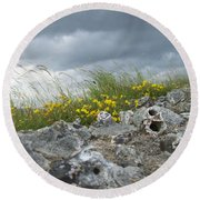 Striking Ruins Round Beach Towel
