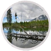 String Lake In Grand Tetons Round Beach Towel